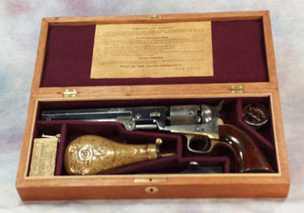 Colt 1851 Model Vintage Wood Gun Box case. Ref.#03c