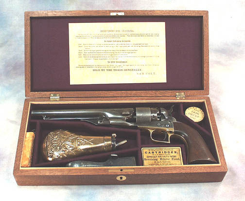 Colt 1860 Model Vintage Wood Gun Box case .Ref.# 01c