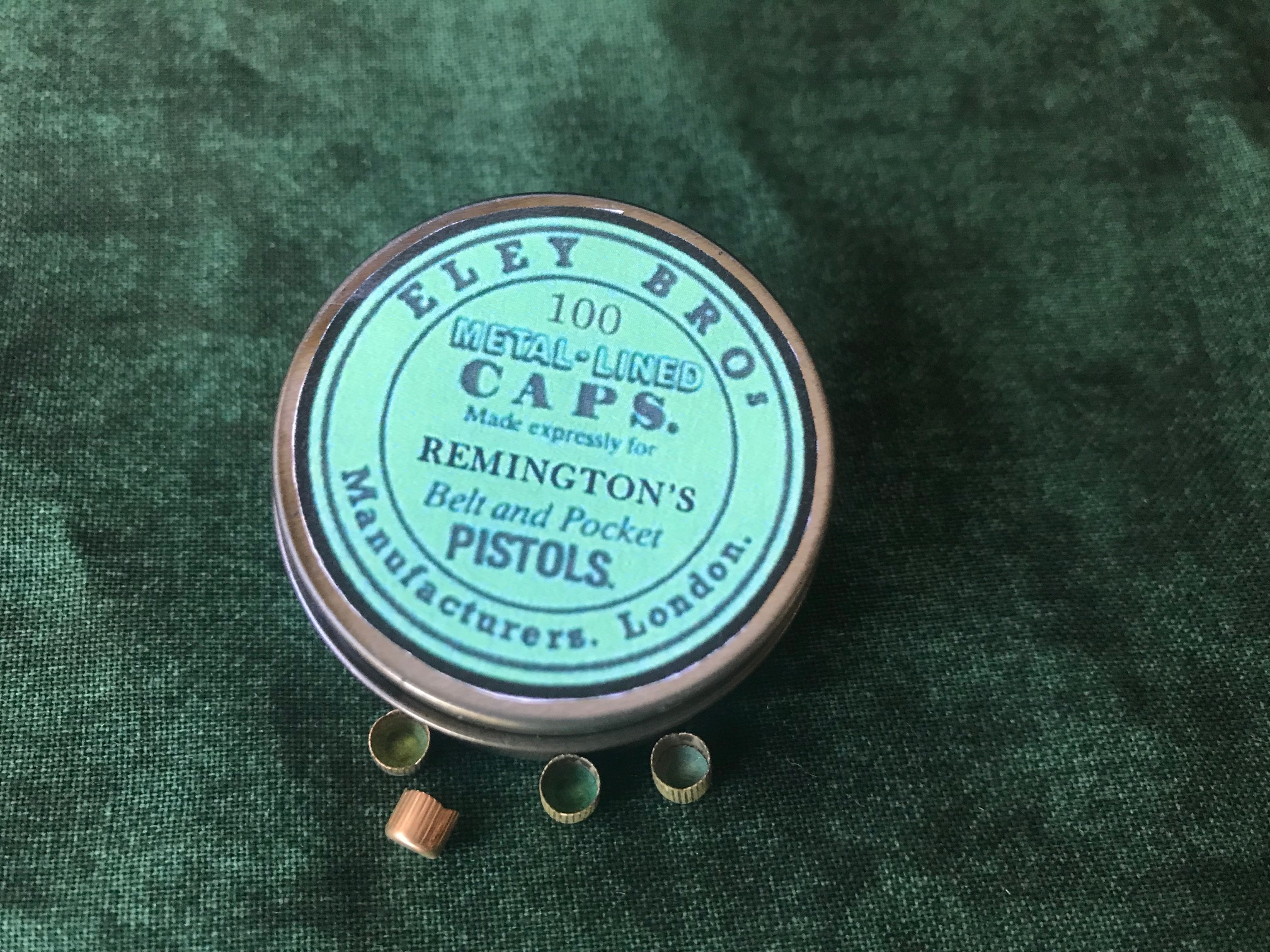 Eley Brothers Remington Percussion Cap Tin.Order Ref.#EBR.04