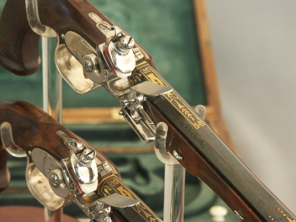 Encased set pair of Miniature Boutet's pistols. Ref.#ML.1