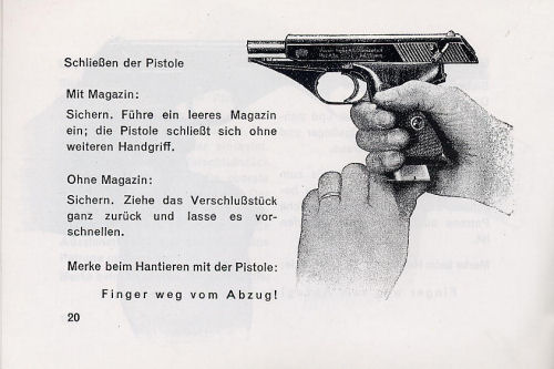 Mauser Hahn Self-loading Pistol Instruction Manual
