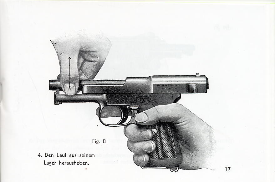Mauser 1910-1914 Model Pistol Factory Manual. Ref.#W13