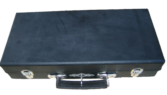 BORCHARDT LUGER Pistol Case - Black Leather