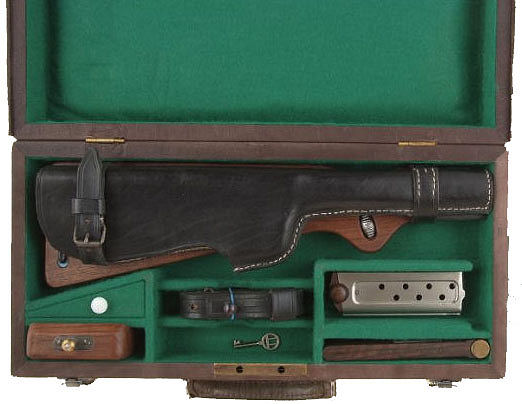 Borchardt Pistol Case in Leather with Accessories Ref. #O1.B/L