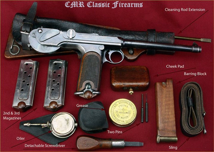 Borchardt Pistol Case & Accessories