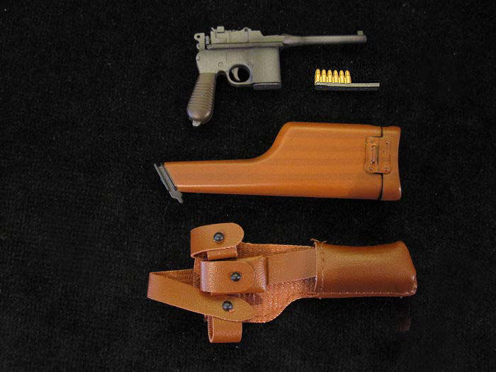 C96 Mauser Broomhandle Pistol with stock & Holster.Ref:#L01.r