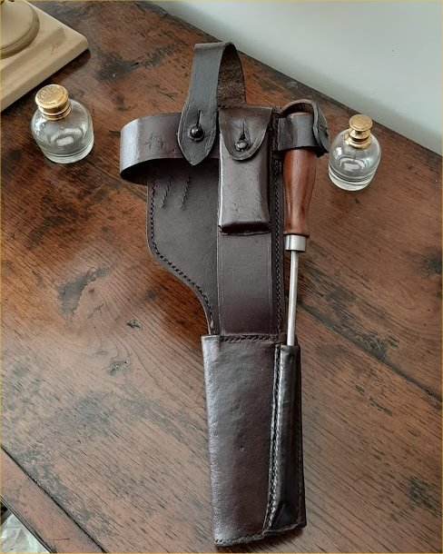 C96 Broomhandle Mauser Pistol WW1 Leather Holster Harness.Ref#E1