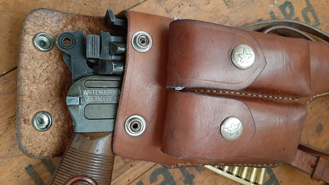 C96 Mauser adjustable Leather strap Pistol Holster.Ref.#01c