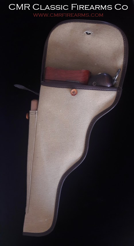 C96 Mauser Broomhandle Pistol Canvas Storage bag.Order.Ref.# 01
