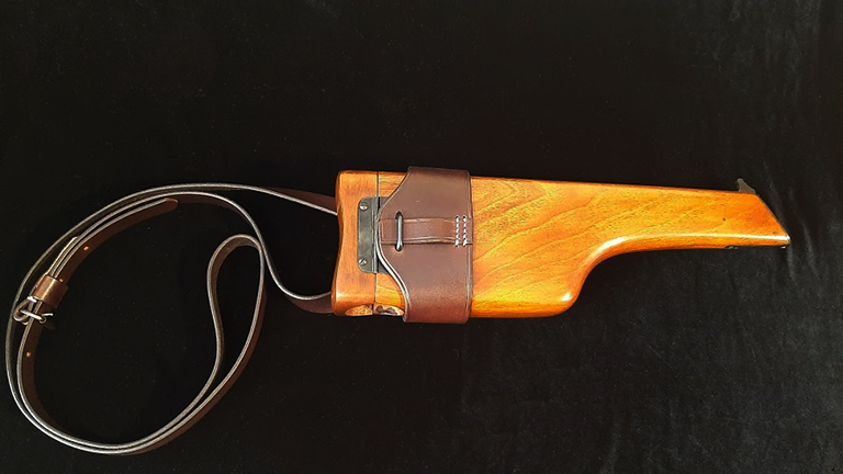 C96 Mauser Shoulder-stock harness. Ref.D1br