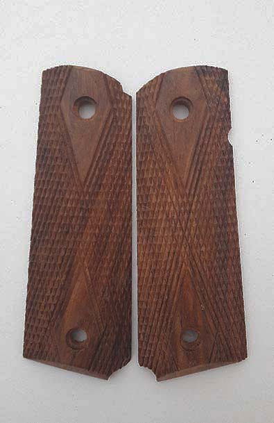 Colt 1911 Double Diamond wood grips (pair). Ref. #P7