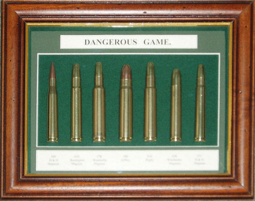 CSC Dangerous Game Rifle Cartridge Board. Ref # CS09