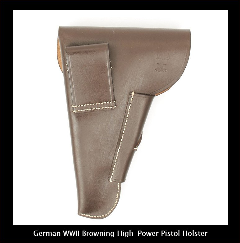 Browning Hi-power German WW11 Pistol Holster.Order.Ref.#02bma