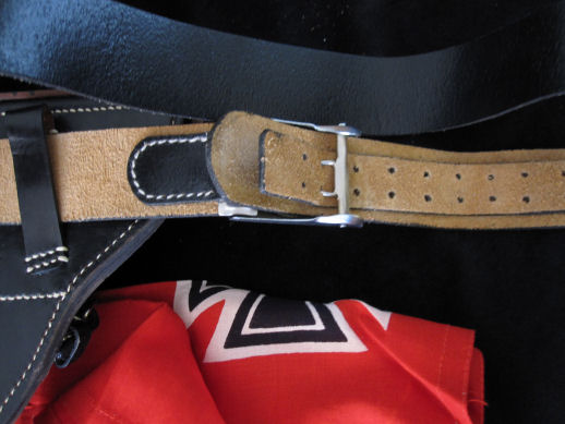WW11 Luger Pistol Belt Leather Belt & Buckle.Ref#GA.2br