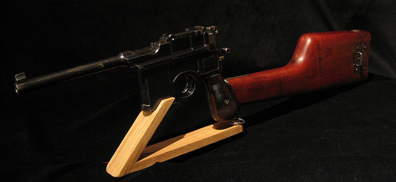 Mauser Broomhandle Pistol Display Stand.Ref.#MPS1