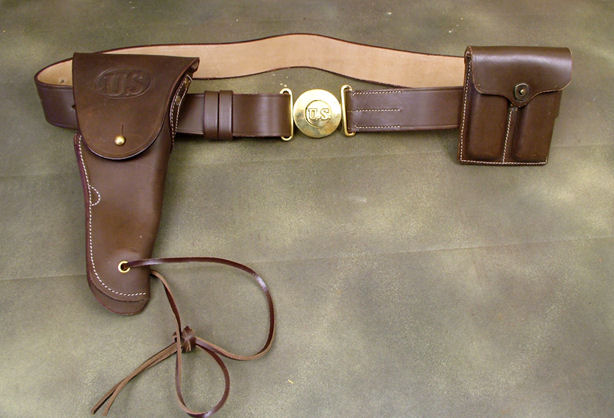 (A) Colt WWII Officer .45 Pistol Holster Set. Ref. #PGL.55