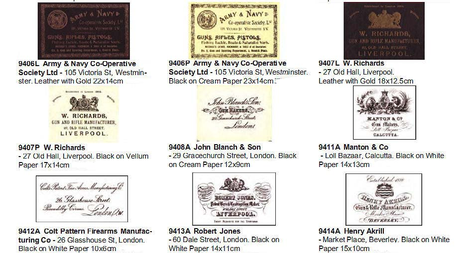 Vintage Gun Case Trade Labels 1896-1940