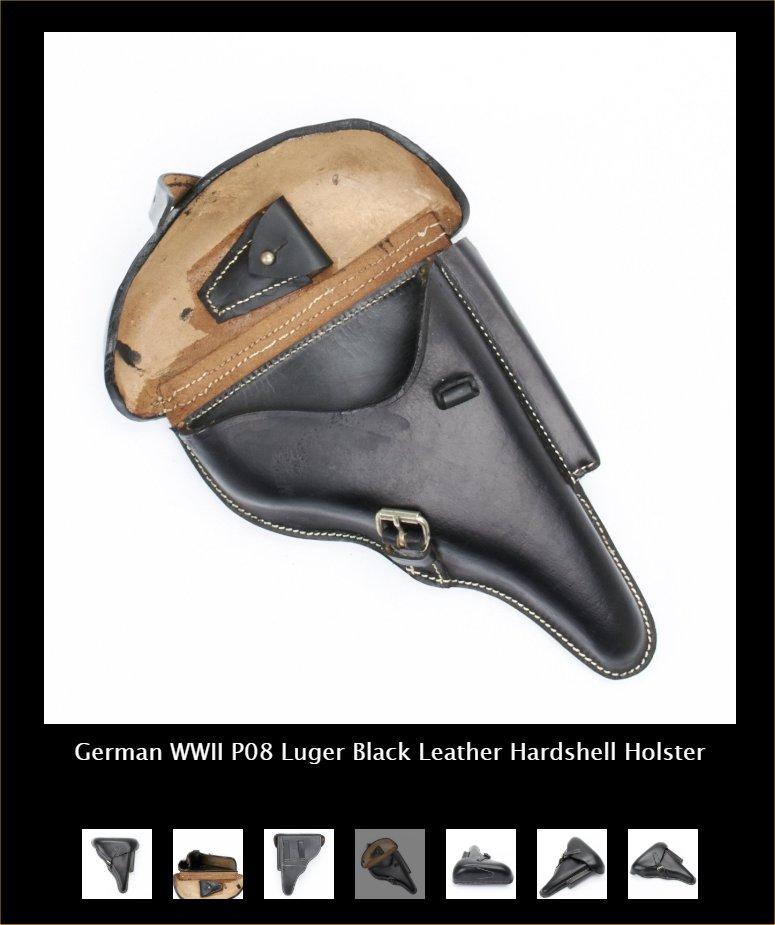 P-08 Luger Hard-shell Holster WW11. Ref. #L2cr
