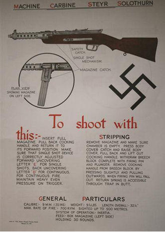 9mm German Machine Carbine Stey Solothurn Poster.Ref.#HK4