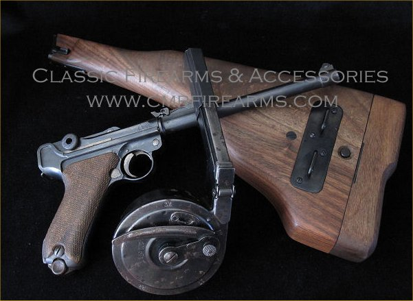 Artillery Luger pistol 1913 Leather/Stock-carrier.Ref.#01.FC2