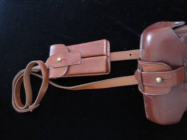Luger Pistol - Leather Shoulder Strap. Ref.#N1cr