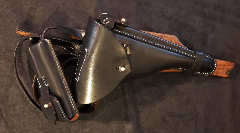 Navy Luger Stock Holster Rig.Ref.#R2cr.