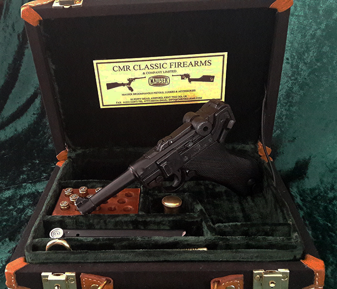 Luger Pistol Canvas Presentation Case. Ref.#O1cb