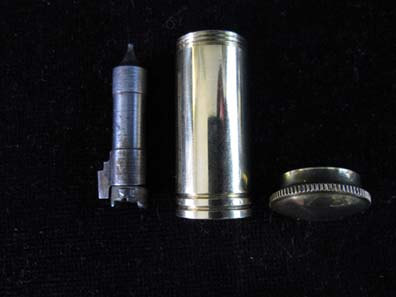 Grease Pot ~ Oil Bottle Brass Luger Pistol. Ref. #U2al