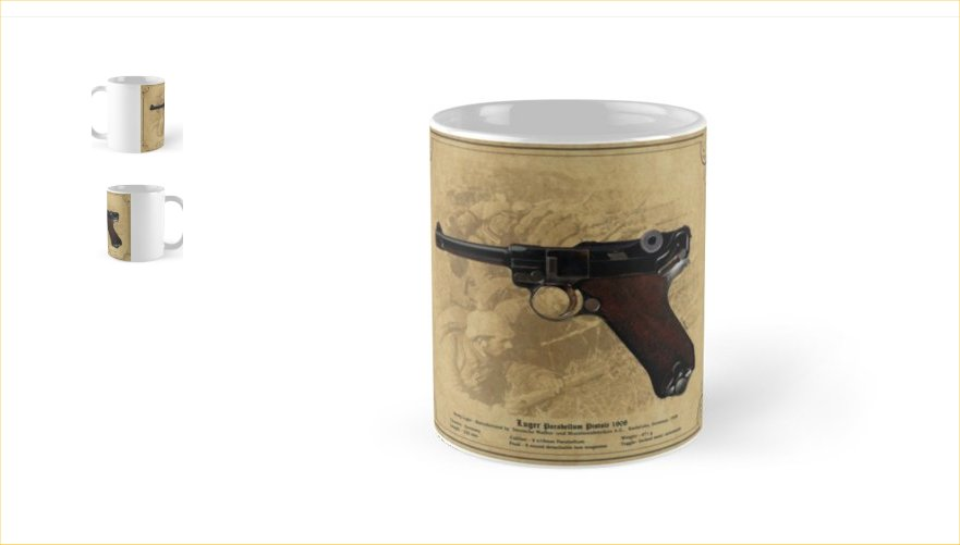 Luger P08 9mm Pistol Coffee/Tea mug Gift. Ref.#1pl