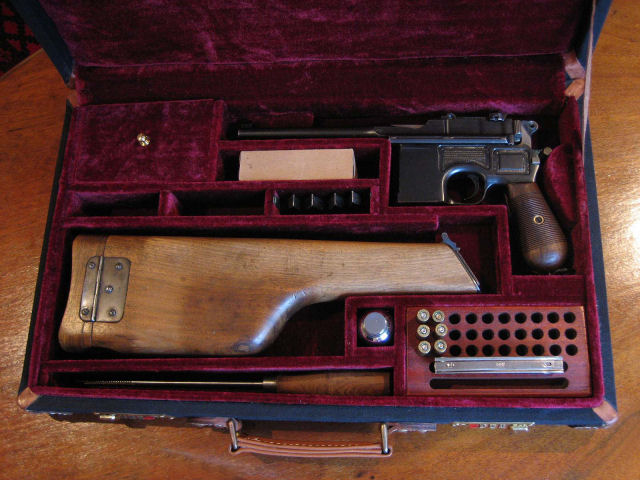 Mauser Broomhandle Pistol Canvas Carry Case. Ref.#K2pc