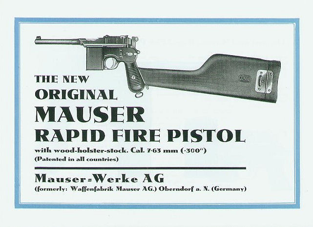 Mauser M712 Schnellfeuer Factory Manual.Ref.#01ms