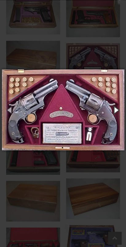 Merwin and Hulbert revolver display case. Ref.#001MH