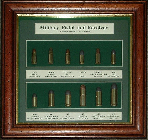 CSA Military Pistol & Revolver Cartridge Board. Ref.# M20