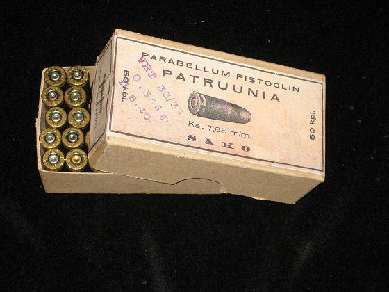 """Ammunition Boxes """"P-08 Luger Parabellum Pistol""""."""