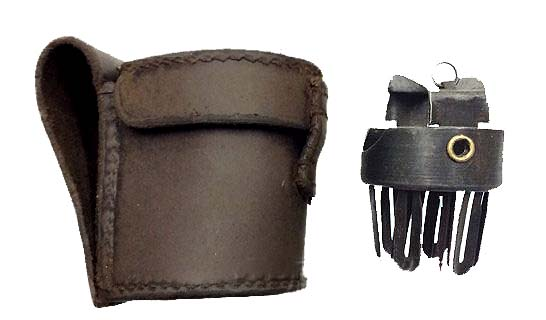 Webley Pistol .455 Prideaux Quick Loader Leather Pouch.Ref.#02