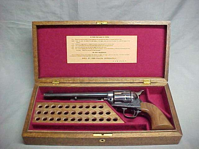 Colt Army Single Action Pistol Display Case. Ref.#CT.7a