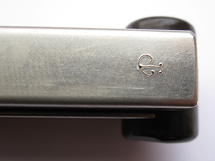 Luger P-08 pistol 9mm Swiss Mag Nickel. Ref#TA12