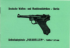 Selbsladepistole Parabellum Manual. Ref. #W6