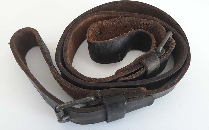 German WW11 Black Leather Rifle/SMG Sling. Ref.#1gr