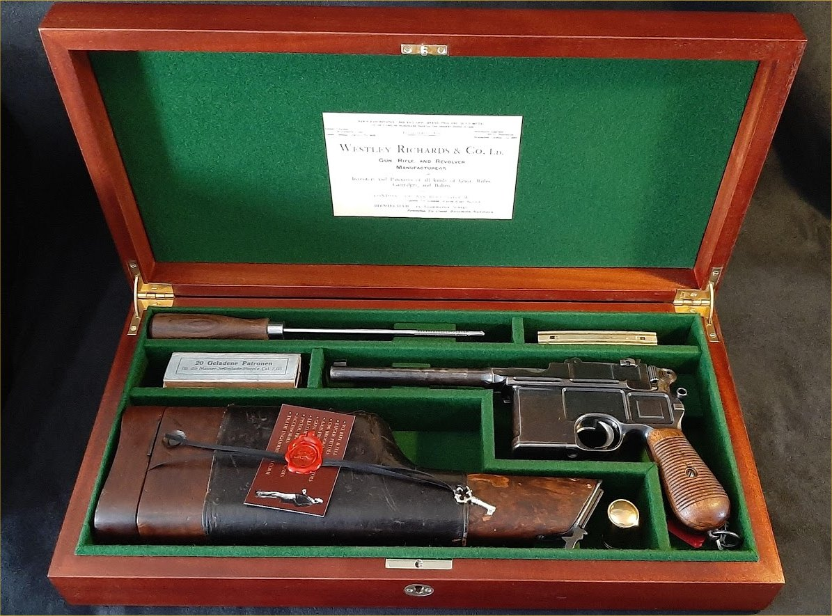 Mauser C96 Westley Richards & Co Ltd Display Case.Ref.#K1