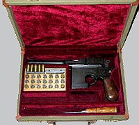 Shansei Model Broomhandle .45 Calibre Pistol Case. Ref.#O1sp